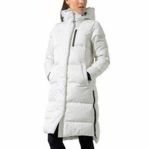 MPG Women's Maxi Down Puffer Jacket in White